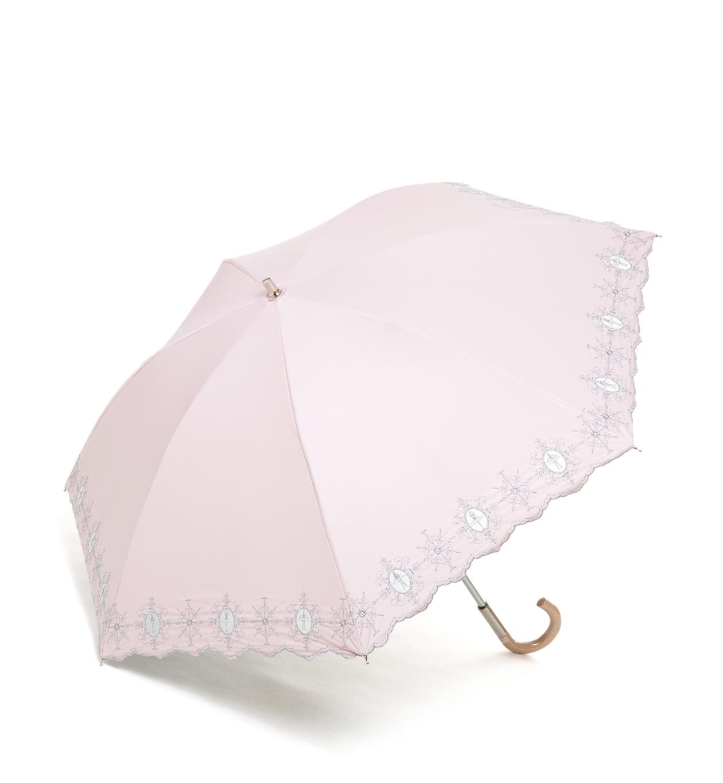 ダマスコ風バレリーナ柄 晴雨兼用長傘/コーラルピンク