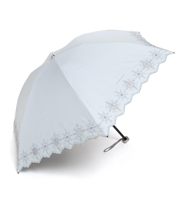 ダマスコ風バレリーナ柄 晴雨兼用ミニ傘/ミントグリーン
