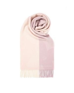 カシミヤ100% カランコエバイカラーマフラー/ピンク