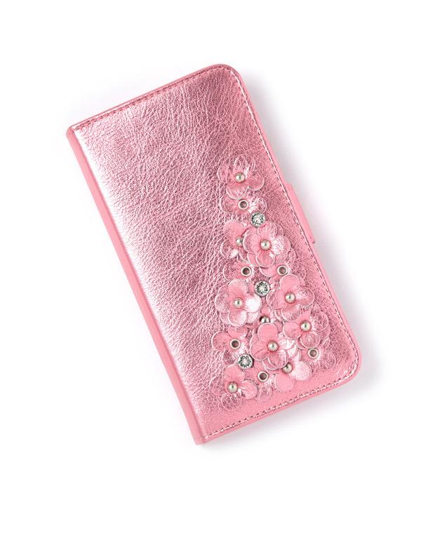 マッツェット小物/iPhone X・iPhone XS ケース/ピンク