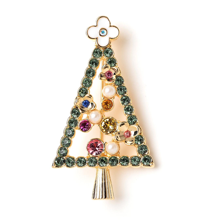 クリスマスツリー/ブローチ/マルチ