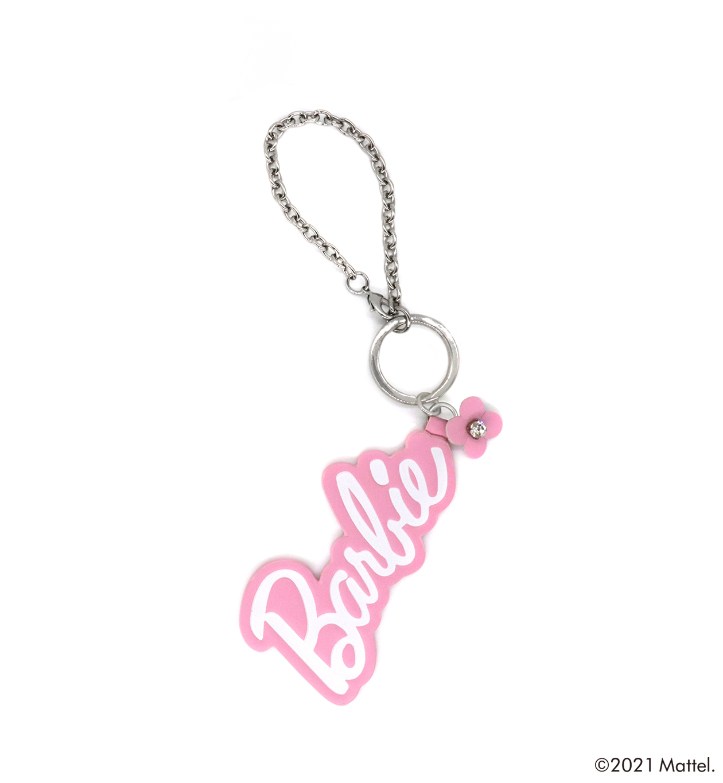 バービー/ロゴ/バッグチャーム/ピンク
