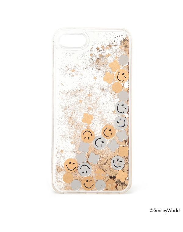 スマイリーワールド®/iPhone7・iPhone8 ケース/シルバーゴールド